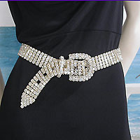 dressy belts in several widths and fabrics, crystal, faux leather and beads