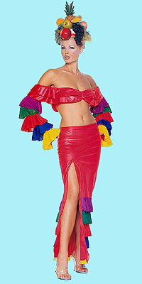 Samba Girl Latin Two Piece Costume