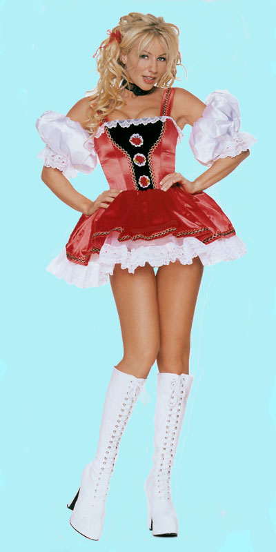 Alpine Girl Costume with Short Dress, a fashion accessorie - Evening Elegance