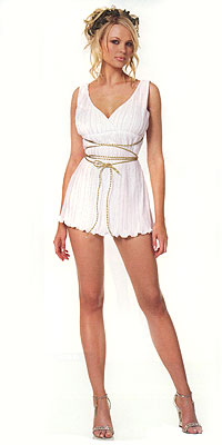 Greek Godess Costume with Criss Cross Ties