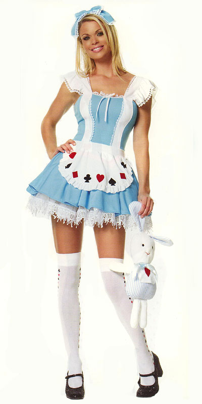 Alice in Wonderland Costume with Headpiece, a fashion accessorie - Evening Elegance
