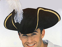 Black Buccaneer Felt Hat with Feather