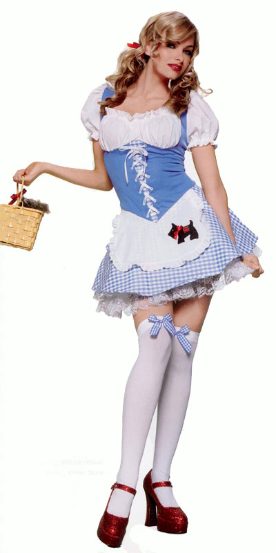 Dorothy Wizard of Oz Costume Gingham Dress, a fashion accessorie - Evening Elegance