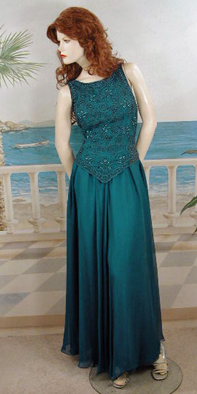 Beaded formal evening dress, a fashion accessories - Evening Elegance