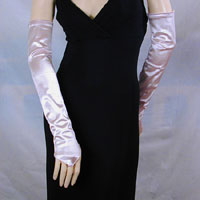 Satin Stretch Fingerless Opera Gloves