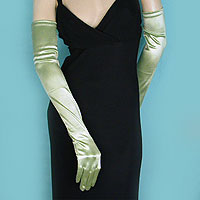 Lone Satin Stretch Opera Gloves for Evening, Bridal and Prom, a fashion accessories - Evening Elegance