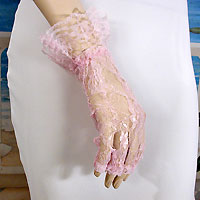 Fingerless lace wrist length