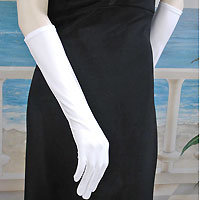 Matte Gloves Below the Elbow Length