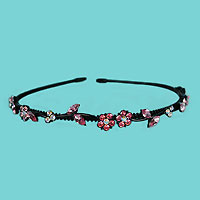 Black Metal Crystal Rhinestone Headband in Several Colors