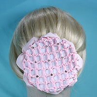 Elegant Rhinestone Studded Hair Bun Snood with Claws