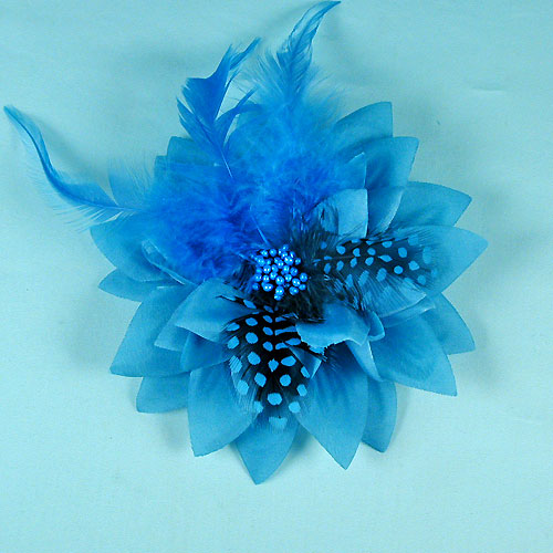 Large Flower with Feathers, a fashion accessories from Evening Elegance