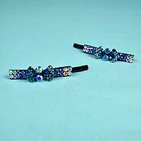 Set of Two Bobby Pins with Rhinestones