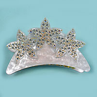 Plastic Claw with Rhinestone Star Design
