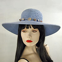 Sun Hat with Shell Hatband