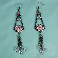 Antique look very long dangle earings