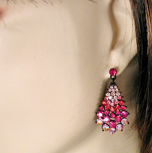 Small Cluster Drop Earrings, a fashion accessories from Evening Elegance