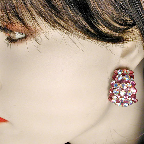 Half Hoop Crystal Rhinestone Clip Earrings, a fashion accessories from Evening Elegance