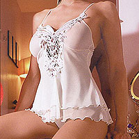 romantic lingerie glowns, teddies, bra and panty sets