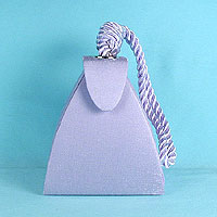 Triangle bag with cord handle