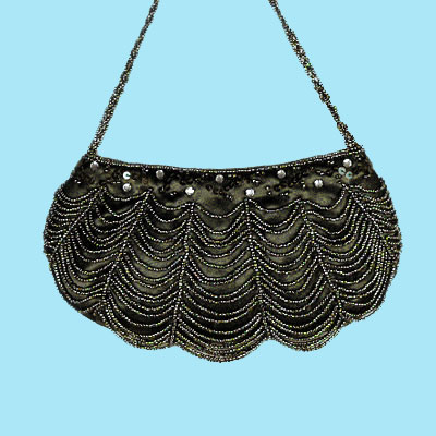 Beaded satin purse, a fashion accessories from Evening Elegance