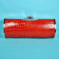 Faux Snake Red Purse