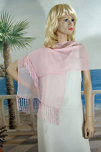 Fringed Scarf or Light Shawl