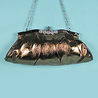bronze clutch purse with  handle