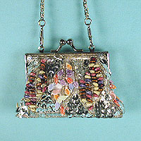Tiny Beaded and Sequined Evening Bag