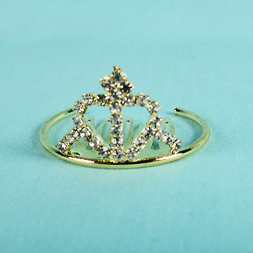 Tiny crystal rhinestone crown, a fashion accessorie - Evening Elegance
